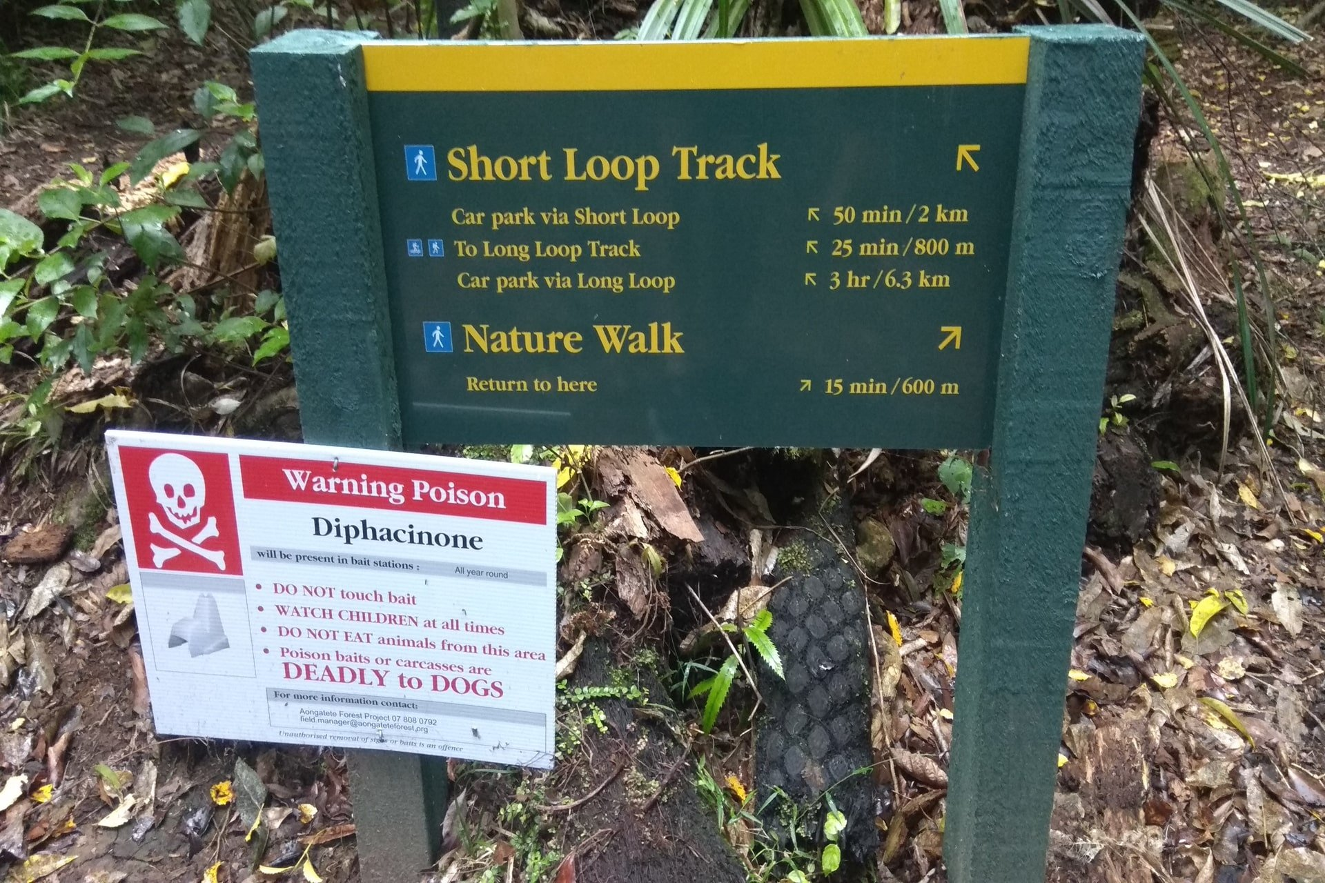 Aongatete-Track-Sign