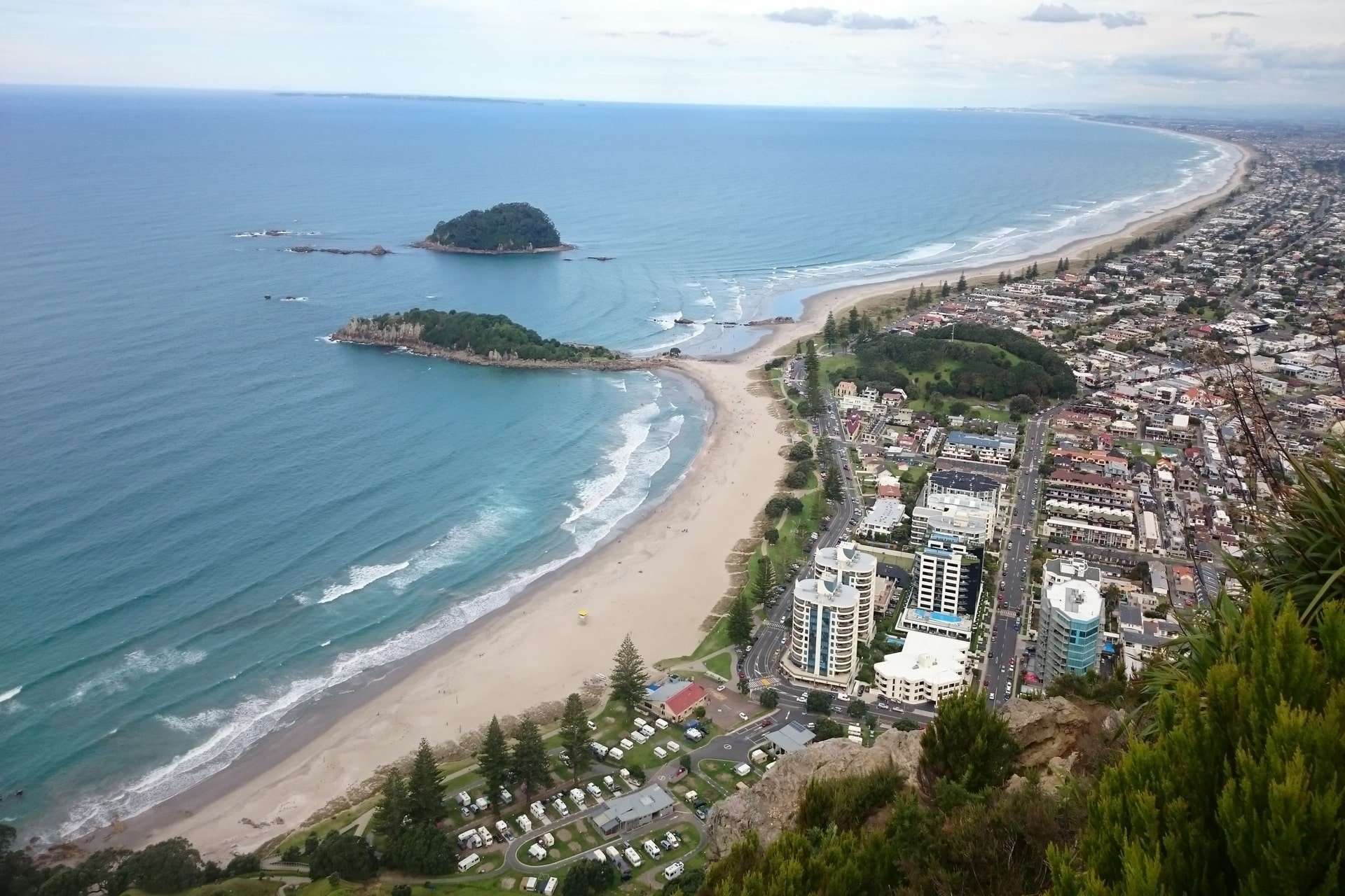 Mount Maunganui Summit Track Scenic View