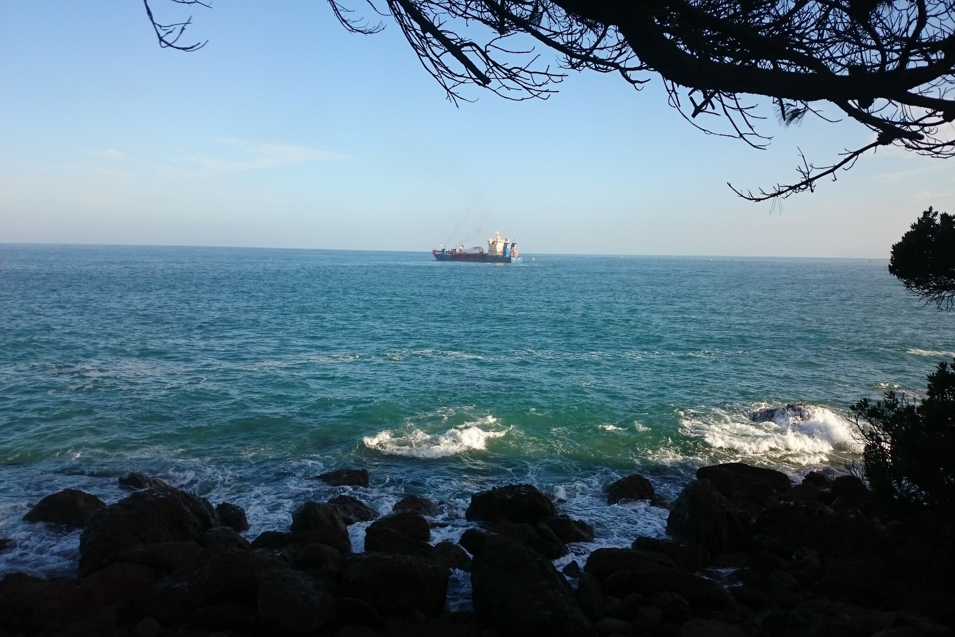 View of ship from Mount Base Track