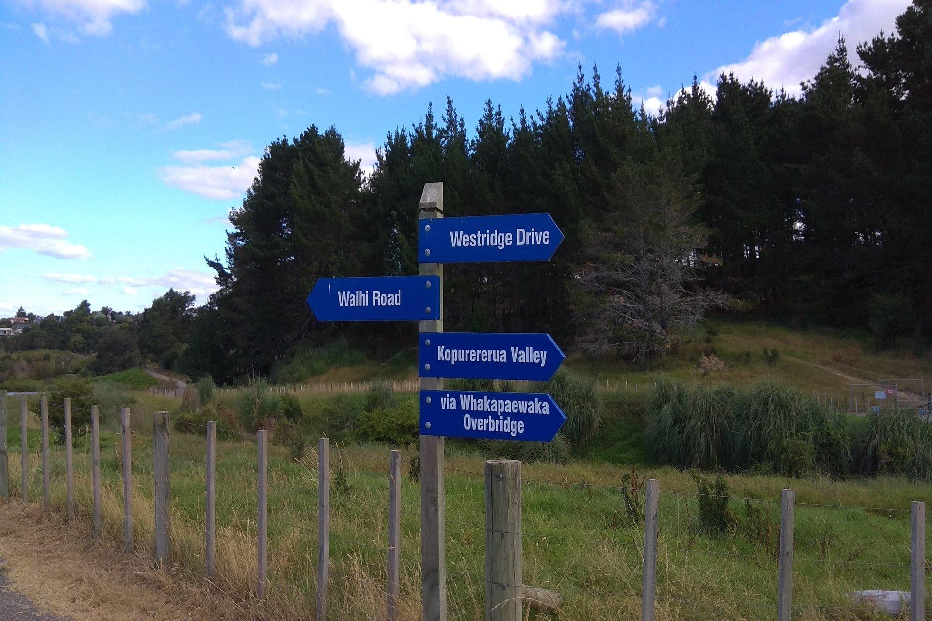 signage-along-track-kopurererua